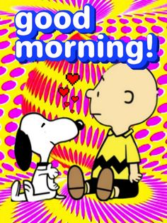 Charlie Brown Quotes, Charlie Brown And Snoopy, Snoopy Love, Peanuts Gang, Mornings, Good Morning, Gifs, Happiness, Comics