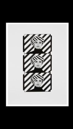 "Peter Knapp - "" Rayures "", 1961/1979 - Gelatin silver print - 40 x 30 cm"