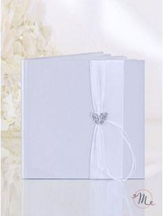 Guest book - Spilla farfalla. Guest book per matrimonio con spazio per inserire la foto.  Misure: 20.5 cm x 20.5 cm. In #promozione #matrimonio #weddingday #ricevimento #sconti #offerta #guestbook #guest #wedding #hochzeitsgästebuch #librodefirmasparabodas #librodegliospiti
