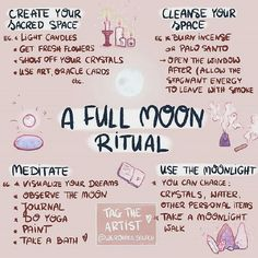A full moon ritual meditation Magick Spells, Wiccan Witch, Wicca Witchcraft, Witch Rituals, Wiccan Altar, Wiccan Magic, Green Witchcraft, Healing Spells, Self Healing