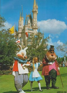 Alice hanging out with the White Rabbit and The Walrus.