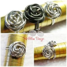 Adjustable wire rose ring.