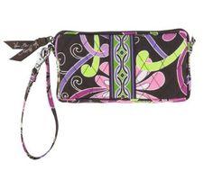 Vera Bradley Wristlet Bag in Purple Punch
