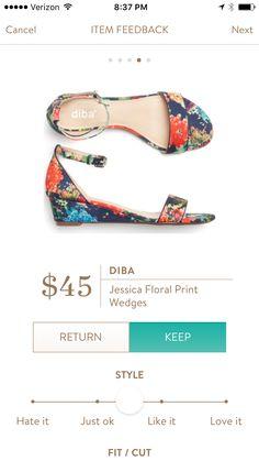 Diba Jessica Floral Print Wedges love love love please send!!!!!!!!