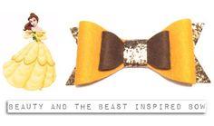 Disney Beauty and the beast Inspired Bow Hairclip by Poparoo