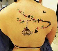 tatuagem arvore com passaro - Pesquisa Google