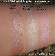 e.l.f Baked Highlighters-Wet Swatches.