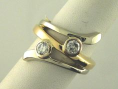 Two Tone Diamond Ring jewelry