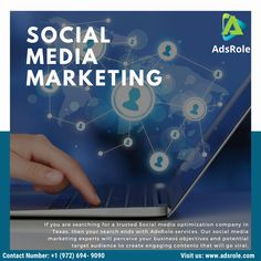 Social media marketing (SMM) is continually progressing and adapting, becoming a powerful online marketing resource for companies and brands. Social media platforms like Facebook, Twitter, LinkedIn, and Instagram can dynamically increase exposure and interest in your company. Call us today for FREE Consultation on +1 (972) 694-9090 or simply visit our website: www.adsrole.com.  #AdsRole #texas #digitalmarketing #onlinemarketing #socialmedia #marketingstrategy #smo Top Digital Marketing Companies, Social Media Marketing, Online Marketing, Local Seo Services, Companies In Usa, Social Media Company, Like Facebook, Mobile Marketing, App Development