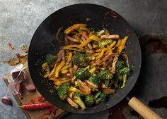 Image: Pork and broccoli stir fry with honey