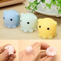 Cute Lovely Mochi Squishy Octopus Squeeze Healing Fun Toy Relieve Stress Random   Cell Phones & Accessories, Cell Phone Accessories, Straps & Charms   eBay!