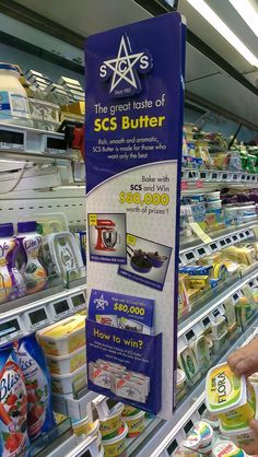 The Great Taste of SCS Butter Shelf Banner | Shelf Banner | point of purchase at thesellingpoints.com