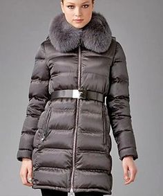 Prada Fur Trim Puffer Jacket