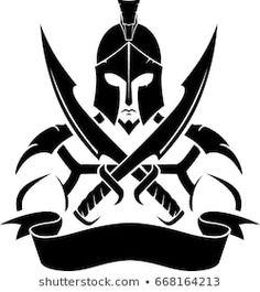 Stock Photos and Pictures Spartan Sword, Spartan Helmet, Spartan Warrior, Viking Warrior, Spartan Logo, Spartan Tattoo, Spartan 300, Escudo Viking, Tribal Tattoos