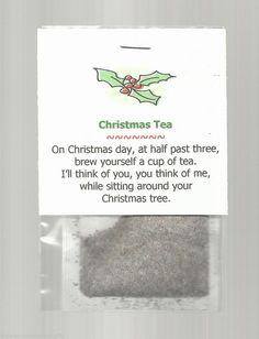 Christmas Tea Stocking Stuffer Favor Gift Beverage