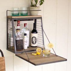 foldable liquor cabinet/mini bar/small space saver