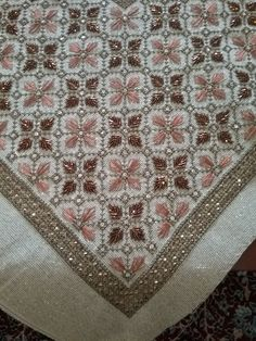 Cross Stitch Art, Bohemian Rug, Diy And Crafts, Embroidery, Detail, Rugs, Crochet, Stitching, Handmade