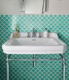 Ca' Pietra Atlantis Scallop Porcelain Kiwi Wet Room Bathroom, Upstairs Bathrooms, Family Bathroom, Bathroom Inspo, Bathroom Ideas, Scallop Tiles, The Tile Shop, Green Colour Palette, Wall And Floor Tiles