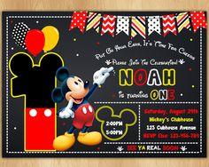 Invitación de Mickey Mouse  Mickey invitar  invitación de Prince Birthday Party, 1st Birthday Party Themes, Birthday Fun, Fiesta Mickey Mouse, Mickey Party, Mickey Mouse Birthday Invitations, Minnie Birthday, Little Prince Party, First Birthdays