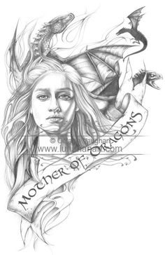 Small Prints  Mother of Dragons  Game of Thrones  by Lunarianart, £4.50