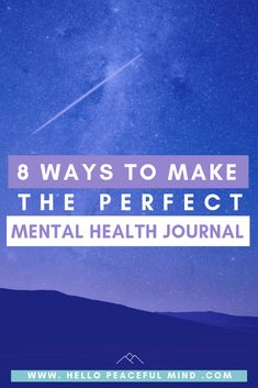 8 Ways To Make The Perfect Mental Health Journal Hello Peaceful Mind Planet Fitness, Health And Wellness, Health Tips, Health Articles, Mental Health Journal, Journal Writing Prompts, Cognitive Behavioral Therapy, Health Promotion, Anxiety Relief