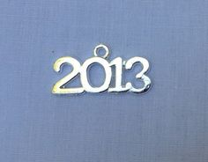 Metal 2013 or 2014 Charm (Charm Only). Cool idea for a Christmas ornament!