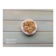 Miniature 1:12 Scale Food - Plate of Chocolate Chip Cookies by DinkyDinerMinis
