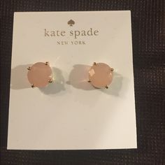 Kate Spade Earrings COMING SOON New Kate Spade Earrings Includes dust bag, gift box, and Kate spade shopping bag. Color: Posy Pink/Gold Price is firm. No free shipping. No trades kate spade Jewelry Earrings