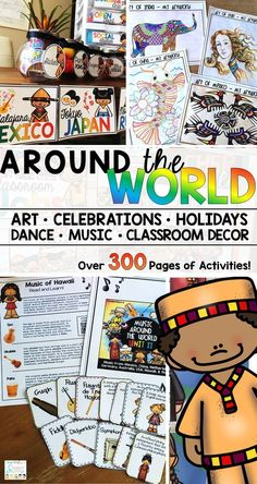 My students love these multicultural activities. It includes art around the world, music, history, celebrations, traditions, holidays, dance, and even decor for your classroom!