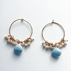 Fab.com   Something Blue Drop Earrings