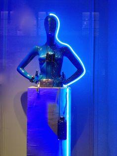 "LANVIN WOMAN,Paris France,""The Thin Blue Line"", pinned by Ton van der Veer"