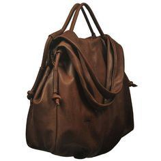 Leather slouchy Handbag, named Femme Fatale , in  Chocolate brown  color MADE TO ORDER