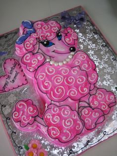 Adorable!!! Pink Poodle Cake