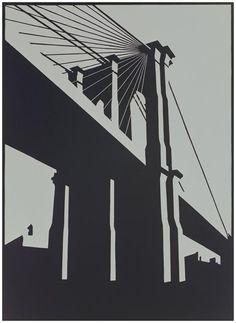 Buy a linocut print Brooklyn Black from a ltd edition of 75 prints by British printmaker Paul Catherall. For Arts Sake - art prints online. Art Prints Online, Linoprint, A Level Art, Art Graphique, Brainstorm, Linocut Prints, Urban Landscape, Brooklyn Bridge, Urban Art