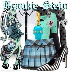 """""""Frankie Stein from Monster High"""" by likeghostsinthesnow on Polyvore"""