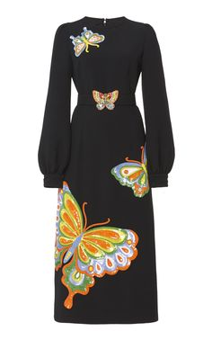 ANDREW GN BELTED BUTTERFLY SEQUINED MIDI DRESS. #andrewgn #cloth