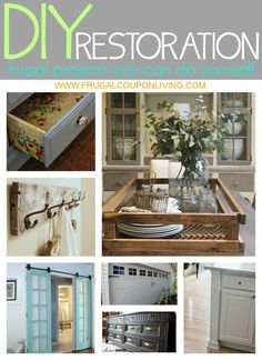 DIY Hardware - Knobs, Rods, Hinges and More. DIY Restoration Ideas for your home improvement projects on Frugal Coupon Living.