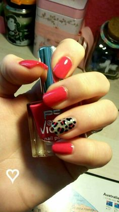 My nails ♡  Leopard pink