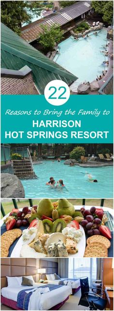 22 Fun Reasons to Stay with the Family at Harrison Hot Springs Resort 22 Reasons to Stay with the Family at Harrison Hot Springs Resort Family Vacation Destinations, Vacation Spots, Travel Destinations, Canada Travel, Travel Usa, Free Travel, Springs Resort And Spa, Travel Words, Spring Resort