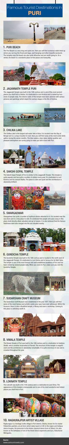 The latest     #Infogrphic    about famous Tourist destinations in          #Puri Created by Sai Tour & Travels  Visit: http://visual.ly/famous-tourist-destinations-puri       #Chandigarh #Mohali #Panchkula #taxiservice #Touroperator #Odisha #Jagannathpuri #India