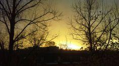 Amazing sunset in Carpi today