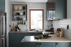 BLOOC Swedish company who designs houses | Small kitchen | via em.elledecoration