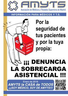 AMYTS. Por la seguridad de tus pacientes y por la tuya propia ¡DENUNCIA LA SOBRECARGA ASISTENCIAL!