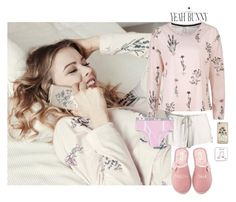 """""""Lazy Day with Yeah Bunny ~ 2 • 30"""" by style-and-chic-boutique ❤ liked on Polyvore featuring Yeah Bunny, Eberjey, Kate Spade and YeahBunny"""