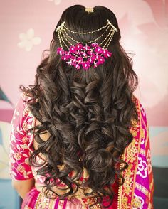 High Pony Hairstyle, Pony Hairstyles, Easy Hairstyles For Long Hair, Bride Hairstyles, Hairdos, Engagement Hairstyles, Indian Aesthetic, Hair Up Styles, Bridal Hairdo