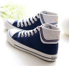 """Fashion students navy canvas shoes CuteKawaiiHarajukuFashionClothing&AccessoriesWebsite.SponsorshipReview&AffiliateProgramopening!so fashionable and sweet, use this coupon code """"cute8"""" to get all 10% off shop now for lowest price"""