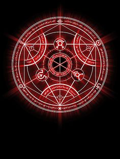Human Transmutation Circle - Red by R-evolution GFX | RedBubble @thunderbolts14 @calukeclirwin #IHEARTRB