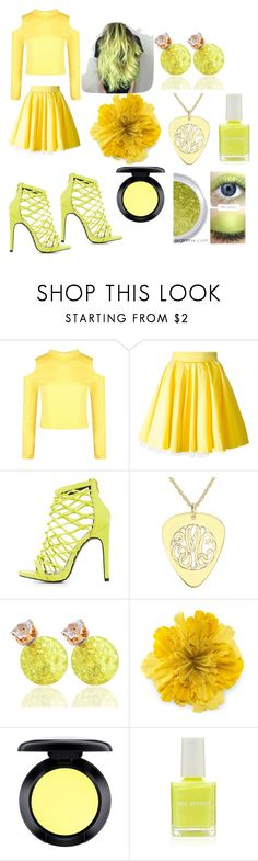 """Shine Bright"" by mizuki-gudgen ❤ liked on Polyvore featuring Boohoo, Philipp Plein, Charlotte Russe, Alison & Ivy, Gucci, MAC Cosmetics and Forever 21"