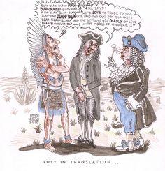 Lost In Translation, #Political, #cartoon, native american