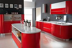 Just perfect! I love red kitchens!!!!!
